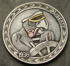 Parrothead Pirate HOBO NICKEL