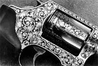 A pistol with extensive coverage.