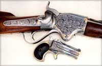A Spencer Rifle and a Derringer